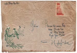 VIET-NAM...VIET-NAM WAR INGOING MAIL to VIET CONG SOLDIER on PICTORIAL ENVELOPE...