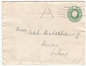 GB - FINLAND...WRECK MAIL from SS HEIMDALLS off SWEDISH COAST