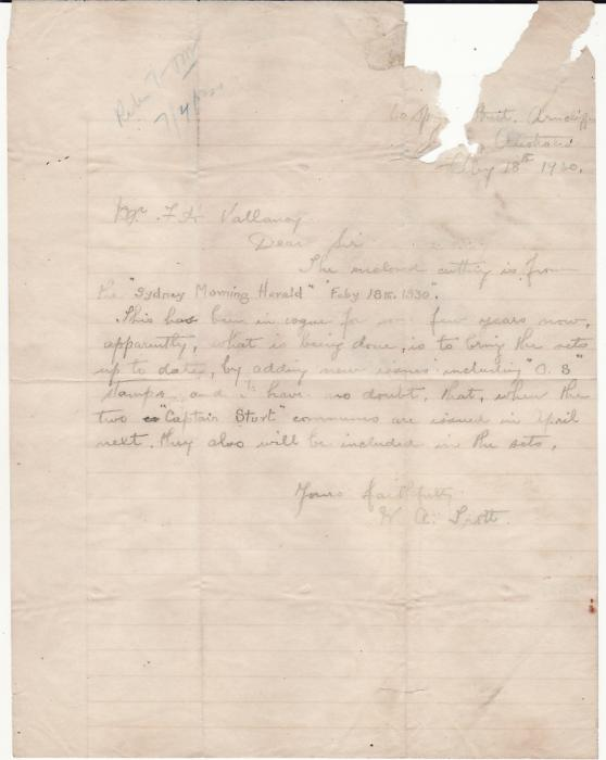 [17868]  AUSTRALIA - GB...WRECK MAIL from SS COMORIN DAMAGED by FIRE at COLOMBO ...   1930 (Feb 19)