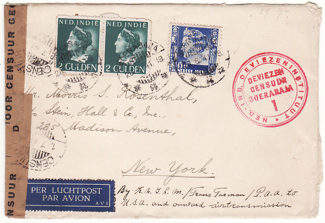 [17893]  N.E.I.-USA...TRANS PACIFIC AIRMAIL...  1941 (Jun 28)