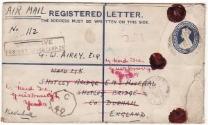 INDIA - GB...WW2 REGISTERED from POW CAMP 25..