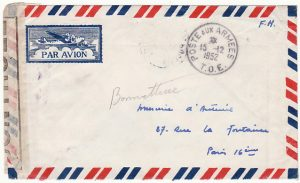 INDO-CHINE - FRANCE...1952 FRENCH FORCES SCARCE CENSORED MAIL...