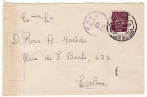 PORTUGAL...AZORES to LISBON CENSORED DURING WW2...