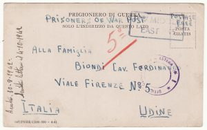 PALESTINE - ITALY…WW2 POW CAMP 321...