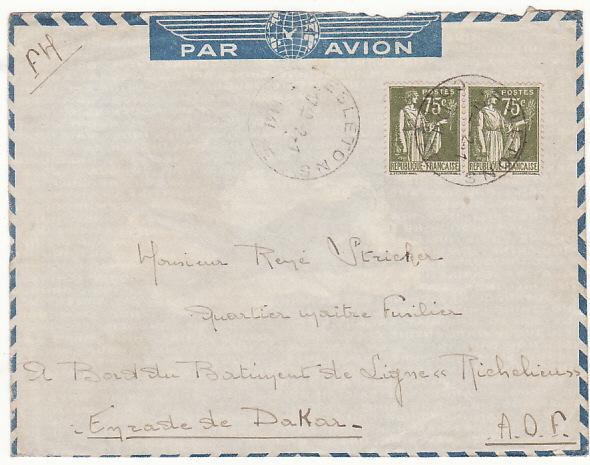 "FRANCE - SENEGAL …WW2 FREE FRENCH BATTLESHIP ""RICHELIEU""..."