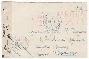 """GB - EGYPT …WW2 FREE FRENCH HEAVY CRUISER """"DUQUESNE""""..."""