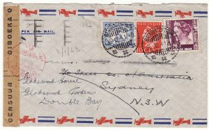 NED. EAST INDIES - AUSTRALIA…CENSORED AFTER PEARL HARBOUR…