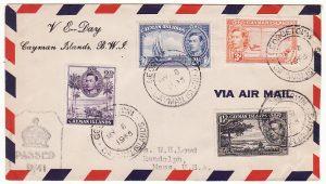 CAYMAN ISLANDS - USA…WW2 CENSORED…
