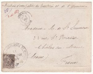 INDO-CHINE - FRANCE…1887 ANBULANCE DE NINH BINH…