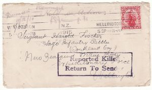 NEW ZEALAND....WW1 to OTAGO INF. BATT. KILLED IN ACTION GALLIPOLI ..