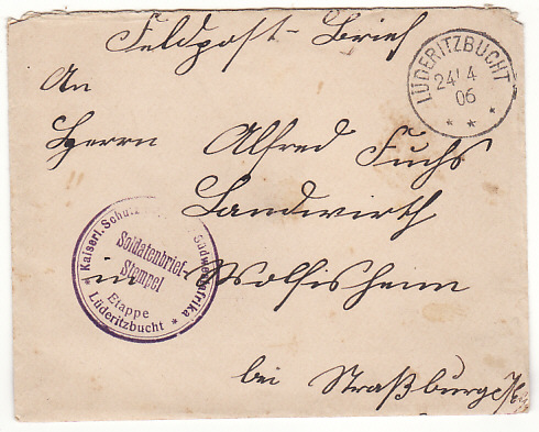 [18508]  GERMAN SOUTH WEST AFRICA -…1906 HERERO WAR…  1906 (Apr 10)