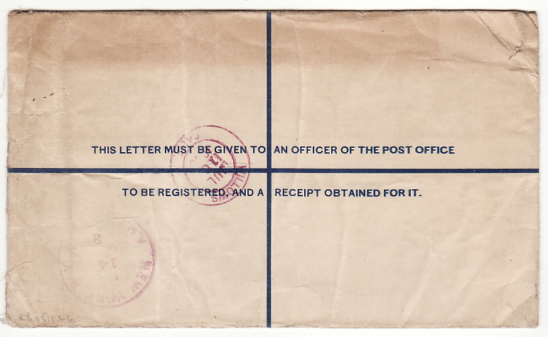 [18516]  PAKISTAN - USA…1948 REGISTERED ENVELOPE with INDIA OVERPRINTS…  1948 (Jul 8)