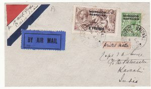 MOROCCO AGENCIES - INDIA…1927 AIRMAIL…