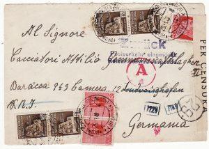 ITALY - GERMANY ...1945 ITALIAN SOCIAL REPUBLIC SERVICE SUSPENDED....