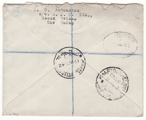 [18663]  SUDAN - GB…WW2 REGISTERED…  1942 (Mar 17)