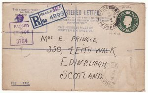 CYPRUS - GB...WW2 CENSORED REGISTERED COMPENSATION ENVELOPE…