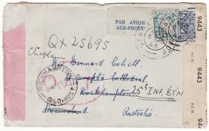 IRELAND - AUSTRALIA…DOUBLE CENSORED AIRMAIL & OAT…