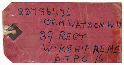 [18779]  GB - GERMANY…BRITISH COMMONWEALTH & FOREIGN PARCEL POST LABEL....   1963 (Dec 7)