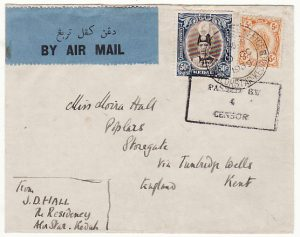 MALAYA - GB …1940 KEDAH CENSORED AIRMAIL ....
