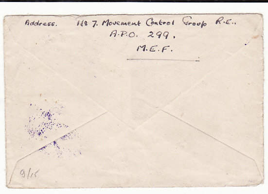 [18802]  GREECE - GB …WW2 CENSORED AIRMAIL & LOST DATE STAMP ....   1941 (Mar 20)