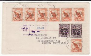 JAPAN - AUSTRALIA…AUSTRALIAN BCOF FORCES MAIL …