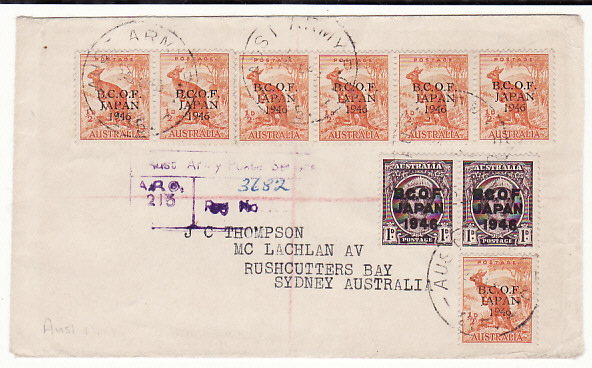 [18849]  JAPAN - AUSTRALIA…AUSTRALIAN BCOF FORCES MAIL …  1948 (Feb 24)
