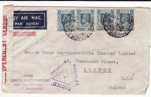 BURMA - GB... WW2 CENSORED REGISTERED AIRMAIL…