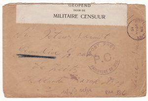 GB - NETHERLAND... WW1 BELGIAN REFUGEE to POW IN ZEIST POW CAMP…