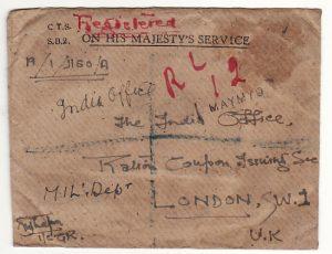 BURMA - GB….BRITISH CIVIL ADMINISTRATION REGISTERED OHMS….