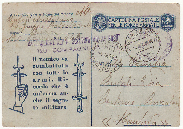 [19045]  FRANCE…ITALIAN OCCUPATION of S.E. FRANCE…  1943 (Aug 8)