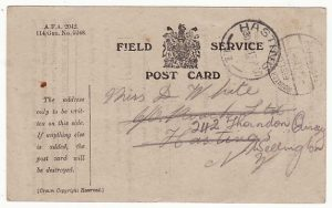 NEW ZEALAND ..WW1 TROOPS in EGYPT using FIELD SERVICE CARD..