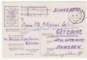 GERMANY - SWEDEN…WW2 POW STATIONARY....