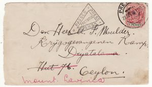 SOUTH AFRICA - CEYLON….BOER WAR POW MOUNT LAVINIA….