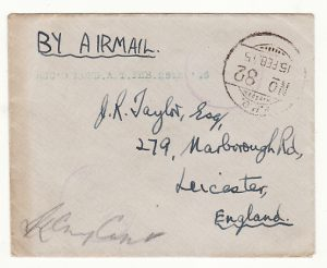 BURMA - GB …WW2  LETTER WRITTEN on AIRGRAPH from A/G CONTROLLERS OFFICE .…