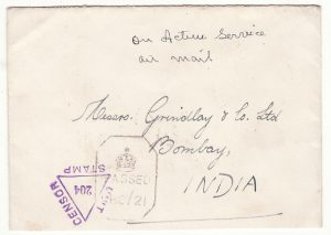 BURMA - INDIA …WW2 CENSORED AIRMAIL.…