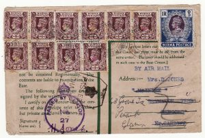 BURMA - GB …WW2  CENSORED AIRMAIL.…