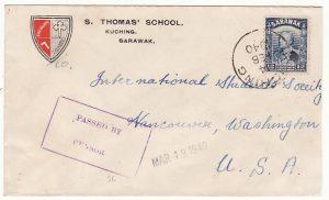 SARAWAK - USA...WW2 CENSORED..