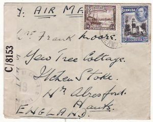 BERMUDA - GB...WW2 SCARCE CENSORED AIRMAIL..
