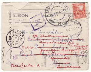 NEW ZEALAND - SUDAN…WW2 TRIPLE CENSORED with TPO & RETURNED...