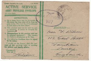 GREAT BRITAIN…WW2 HONOUR ENVELOPE from 2 TAF in EUROPE…