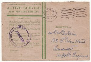 GREAT BRITAIN…WW2 HONOUR ENVELOPE cancelled in BRUSSELS…