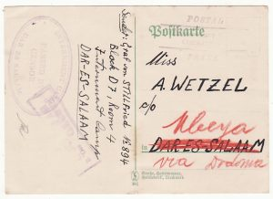 TANGANYIKA…1939 GERMAN INTERNEE MAIL USED LOCALLY…