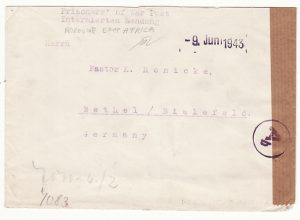 TANGANYIKA - GERMANY…WW2 GERMAN INTERNEE MAIL from KORAGWE…