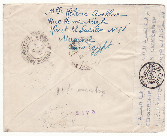 [19337]  EGYPT - SOUTH AFRICA…WW2 to GREEK AIR FORCE...   1944 (Mar 9)