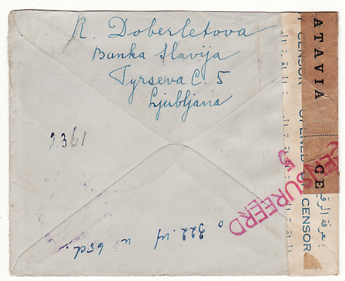[19223]  YUGOSLAVIA - NED. EAST INDIES…WW2 CENSORED in EGYPT & N.E.I.…  1940 (Jun 15)
