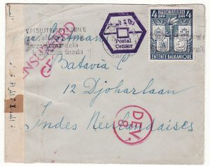 YUGOSLAVIA - NED. EAST INDIES…WW2 CENSORED in EGYPT & N.E.I.…