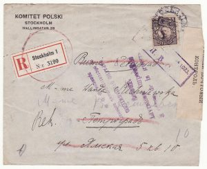 SWEDEN - RUSSIA …RETURN TO SENDER DUE TO WAR CONDITIONS..