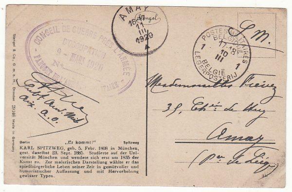 GERMANY - BELGIUM…1920 BELGIAN MILITARY OCCUPATION of EUPEN & MALMEDY…