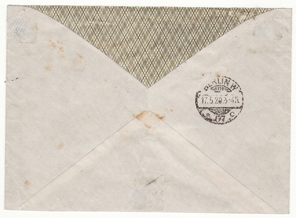 [19314]  GERMANY…1920 ALLENSTEIN PLEBISCITE REGISTERED MAIL…  1920 (May 16)