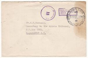 NEW ZEALAND…WW2 SOMES ISLAND INTERNMENT CAMP…